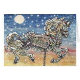 """""""Carrousel de ciel"""", une carte de voeux de manège"""