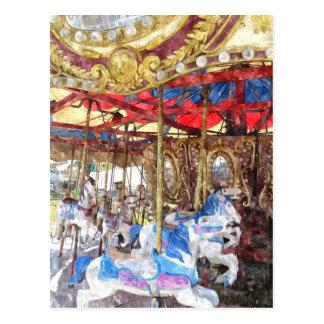 Carrousel pour aquarelle cartes postales