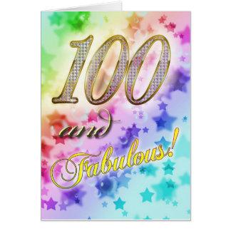 Carte 100th anniversaire pour quelqu'un fabuleux