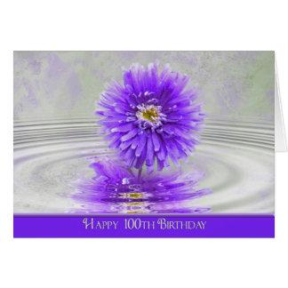 Carte 100th Dahlia d'anniversaire