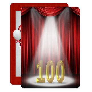 Carte 100th Fête d'anniversaire dans le projecteur