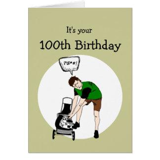 Carte 100th Insulte drôle de tondeuse à gazon
