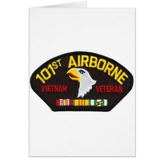 Carte 101st Vétéran aéroporté du Vietnam