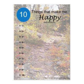 Carte 10 choses qui me rendent heureux - automne