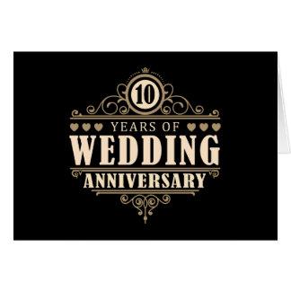 Carte 10ème Anniversaire de mariage