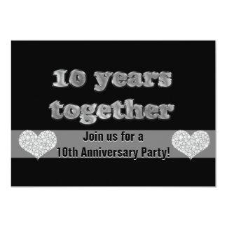 Carte 10ème Fête d'anniversaire | 10 ans ensemble