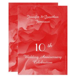 Carte 10ème L'invitation de fête d'anniversaire de