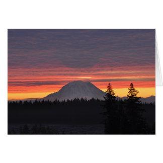 Carte #11 le mont Rainier et lui est ombre
