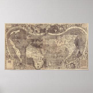 Carte 1507 du monde de Martin Waldseemuller