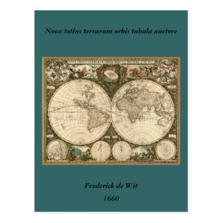 Carte 1660 du monde d'antiquité par Frederick de