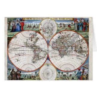 Carte 1676 du monde