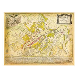 carte 1737 de St Petersbourg