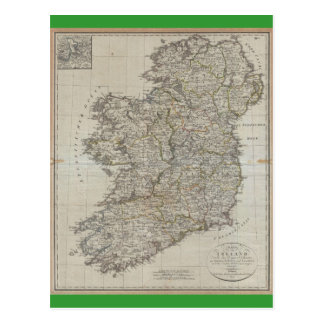 Carte 1804 de l'Irlande Cartes Postales