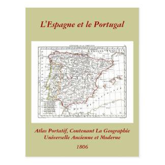 Carte 1806 - L'Espagne et le Portugal Carte Postale