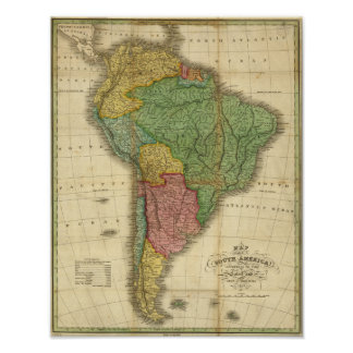 Carte 1826 de l'Amérique du Sud de cru par Anthony