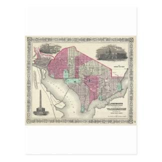 Carte 1866 de Johnson de DC de Washington