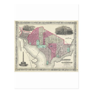 Carte 1866 de Johnson de DC de Washington Carte Postale