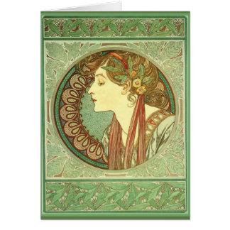 "~ carte 1901 d'Alphonse Mucha de ""laurier"" de"