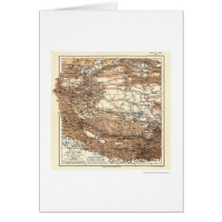 Carte 1909 d'expédition du Thibet Hedin