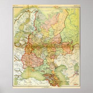 Carte 1928 de vieille Union Soviétique URSS Russie
