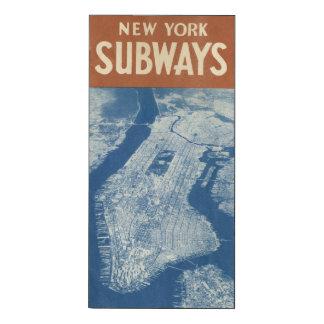 CARTE 1940 DE SOUTERRAIN DE NEW YORK