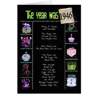 Carte 1946 anecdotes amusantes d'anniversaire