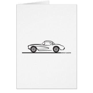 Carte 1956 1957 hards-top de Chevrolet Corvette