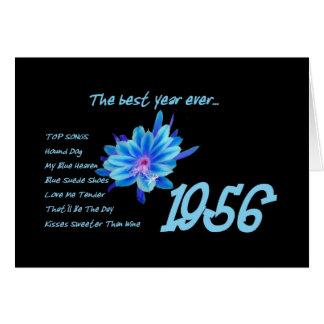 Carte 1956 anniversaire - la meilleure année jamais avec