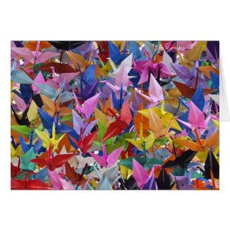 Carte 1.000 origamis empaquettent la photo de grues