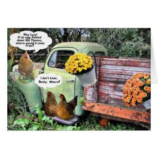 Carte 1 de plaisanterie de poulet