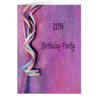 Carte 21th fête d'anniversaire