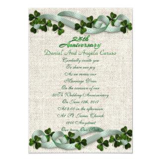 Carte 25ème Thème d'Irlandais d'invitation