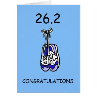 Carte 26,2 Félicitations de marathon pour le mâle
