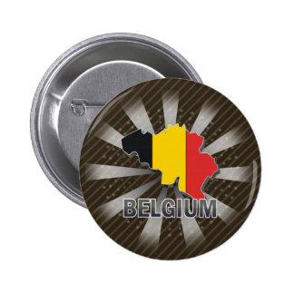 Carte 2,0 de drapeau de la Belgique Badges