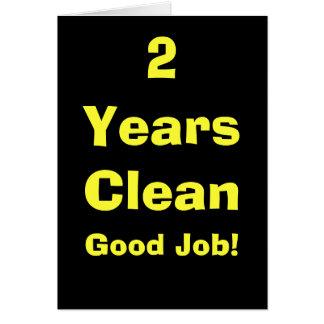 Carte 2 ans nettoient le bon travail !