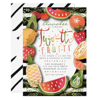 Carte 2ème Partie de l'INVITATION | Two-tti Frutti