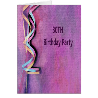 Carte 30ème fête d'anniversaire