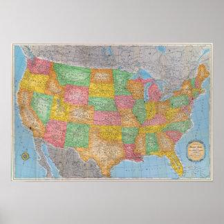 Carte 3 des Etats-Unis