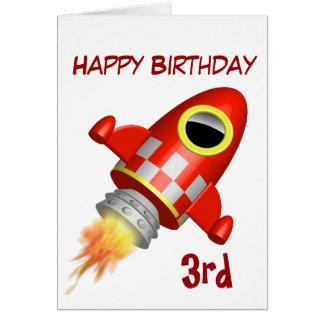 Carte 3ème thème de Rocket de joyeux anniversaire