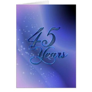 Carte 45 ans (anniversaire)