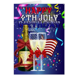 Carte 4 juillet anniversaire - anniversaire sur le