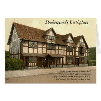 Carte 4 premières lignes de sonnet # 18 par Shakespeare