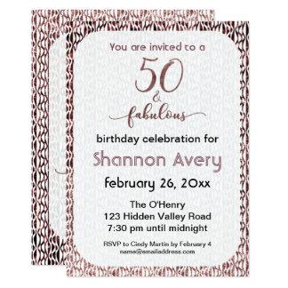 Carte 50 et partie fabuleuse avec de l'or rose de Faux