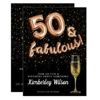 Carte 50 et type fabuleux de ballon d'or de rose de noir