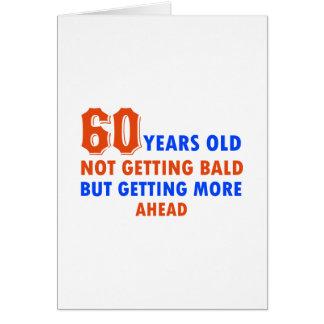 Carte 60 années drôles non chauves
