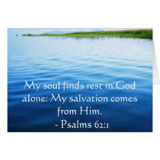 Carte 62:1 inspiré de psaumes de citation de bible