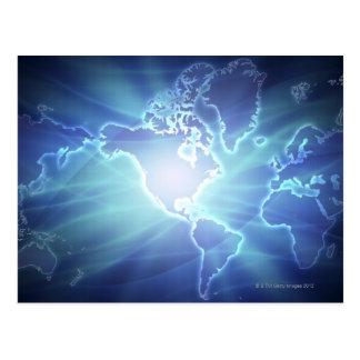 Carte 6 du monde cartes postales