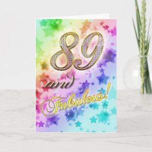 Carte 89e anniversaire pour quelqu'un Fabulous