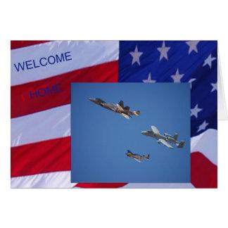 Carte à la maison bienvenue de militaires