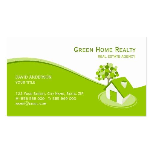 carte la maison verte d 39 entreprise immobili re mod les de cartes de visite zazzle. Black Bedroom Furniture Sets. Home Design Ideas